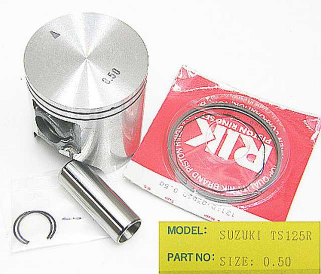 03D-050 - Piston Kit Suzuki TS125R 0.50 O/S