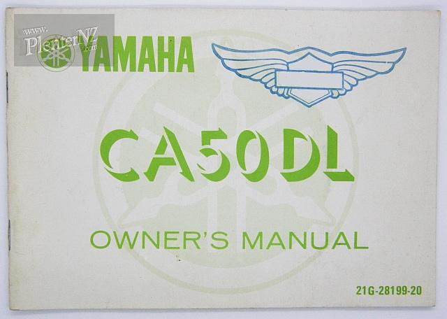 21G-28199-20-00 - CA50DL owners manual