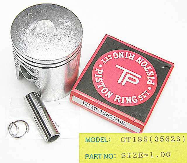 356-100 - Piston Kit Suzuki GT185 / TS100 1.00 O/S
