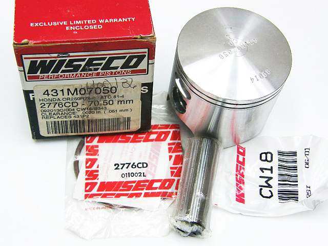 431P2 - Piston Kit Honda CR250R 78-80 ATC 81-84
