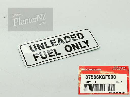 87586-KGF-900 - LABEL,FUEL