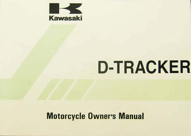 99922-1973-01 - Manual, owners D-Tracker KLX250-J2