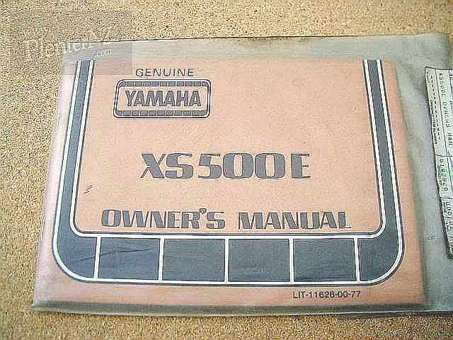 LIT-11626-00-77, XS500 E Owners Manual